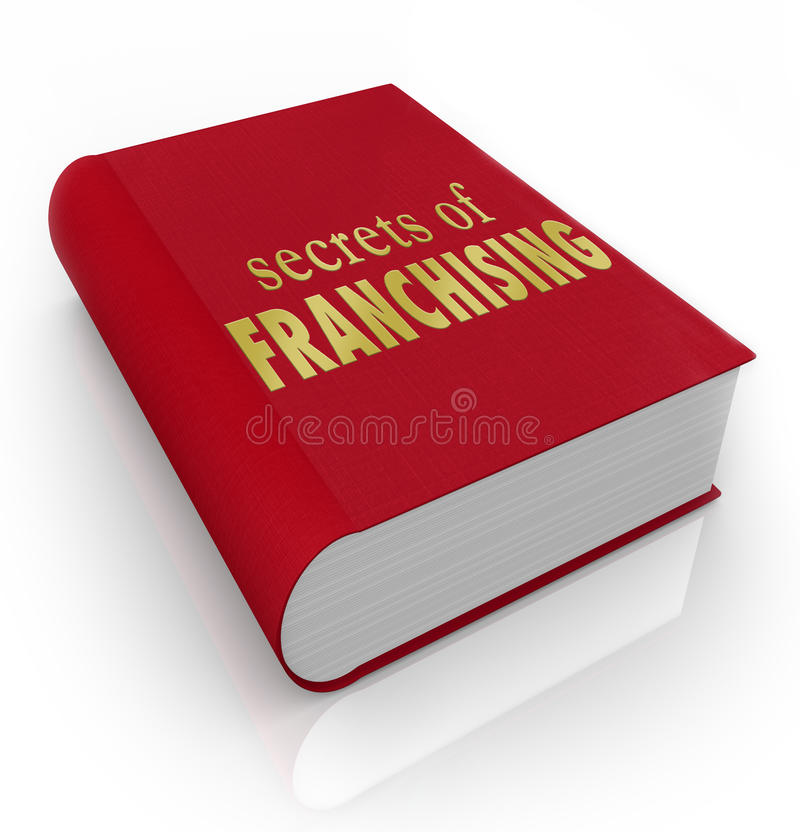 I segreti di consiglio della copertina di libro di franchising fornisce di punta le istruzioni royalty illustrazione gratis