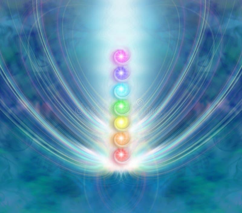I sette chakras illustrazione di stock