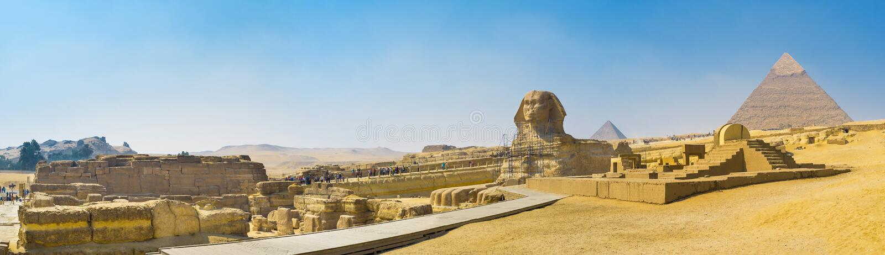 I simboli dell'Egitto immagini stock