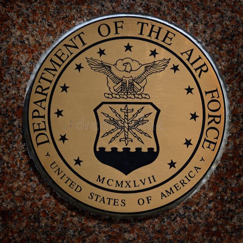 I simboli militari degli Stati Uniti per gli Stati Uniti assiste l'aria dei marinai della marina fotografie stock libere da diritti