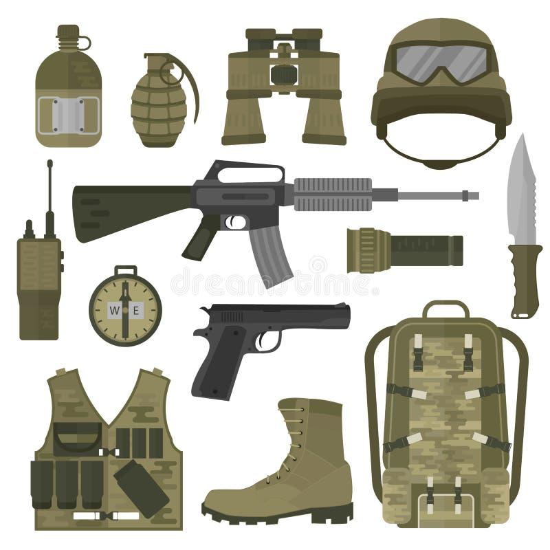 I simboli militari dell'esercito della truppa di NATO o di U.S.A. vector l'illustrazione illustrazione di stock