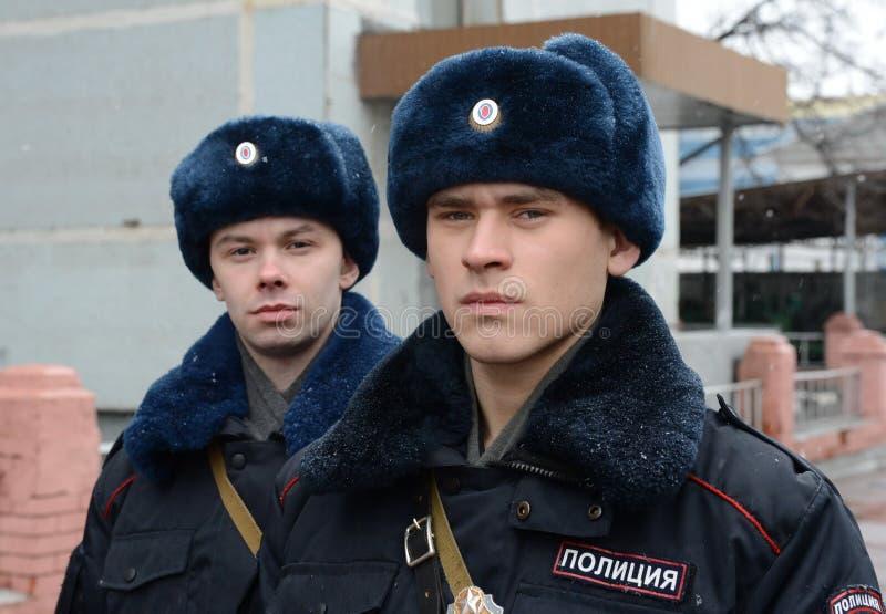 I soldati delle truppe interne del MIA della Russia immagine stock libera da diritti