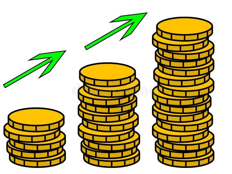I soldi coltivano l'illustrazione fotografia stock libera da diritti