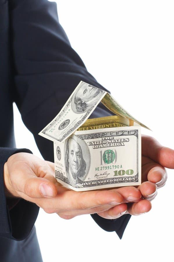 I soldi della casa immagine stock