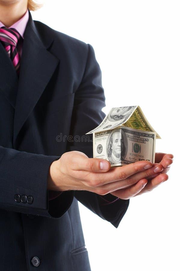 I soldi della casa immagini stock