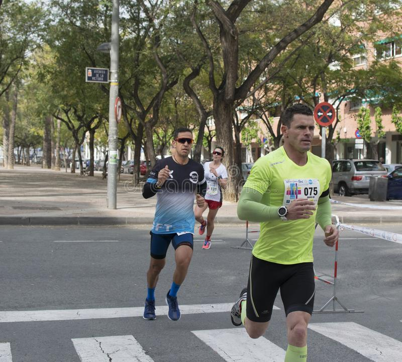 Solidary race in Murcia, March 24, 2019: First solidarity race on the streets of Murcia in Spain stock images