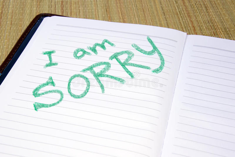 Download I am sorry stock image. Image of scribble, color, inspiration - 14309111
