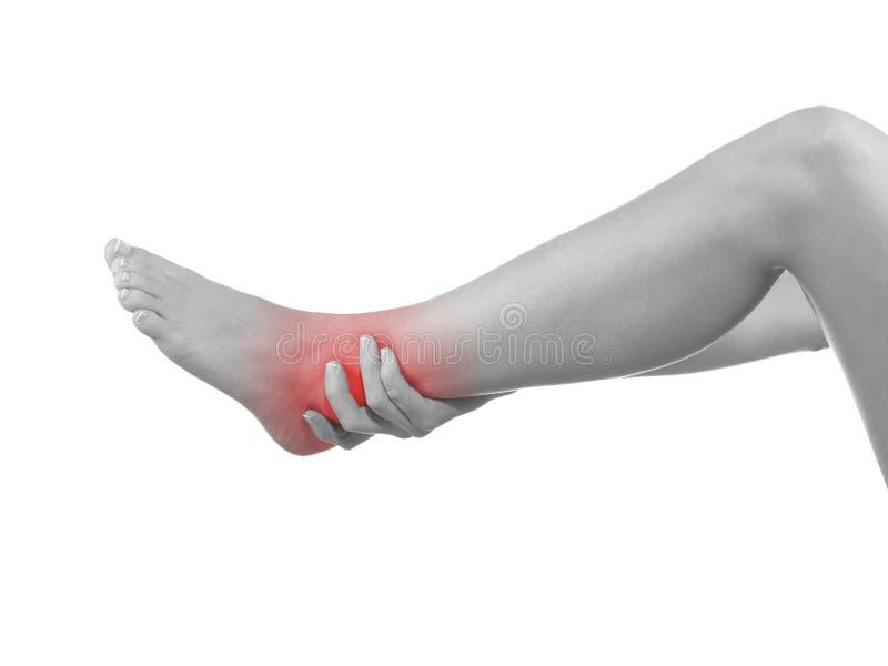 I sprained my ankle. stock photos