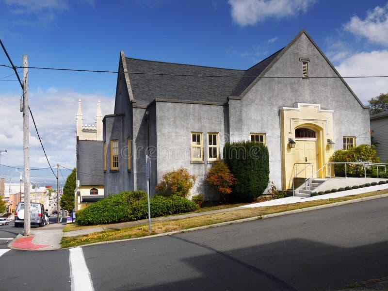 I stadens centrum Astoria, Oregon Förenta staterna royaltyfria bilder