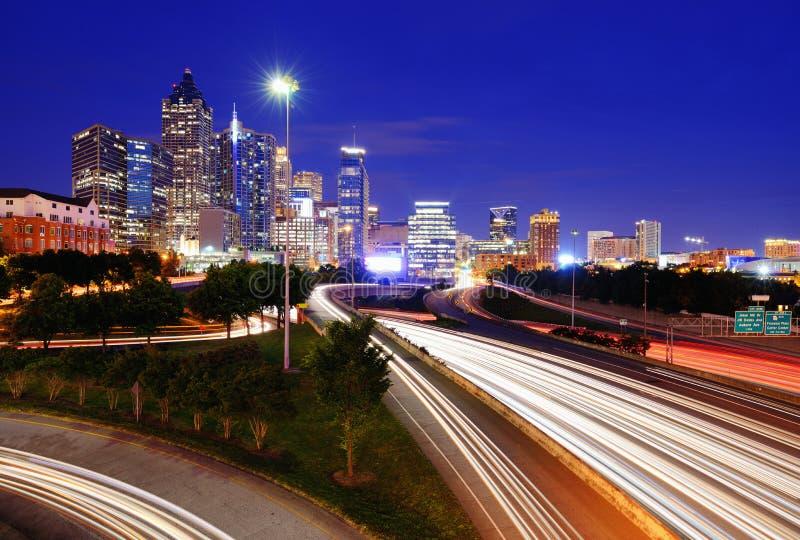 I stadens centrum Atlanta arkivbild