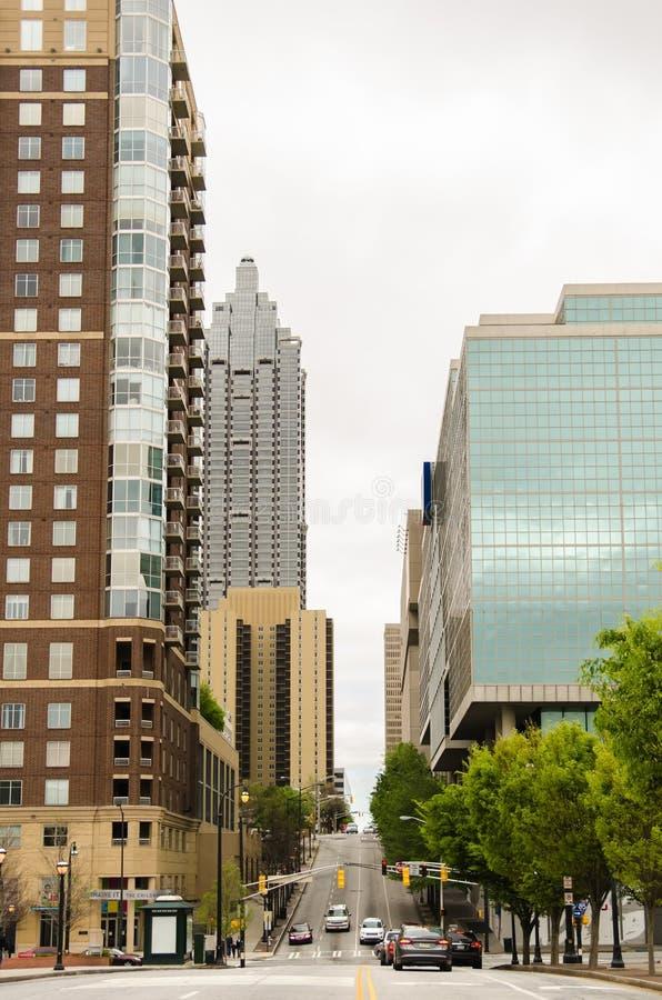 I stadens centrum Atlanta, Georgia USA fotografering för bildbyråer