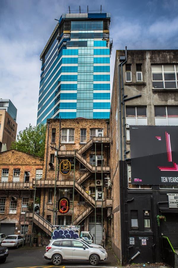 I stadens centrum Auckland - Queensgata arkivfoto