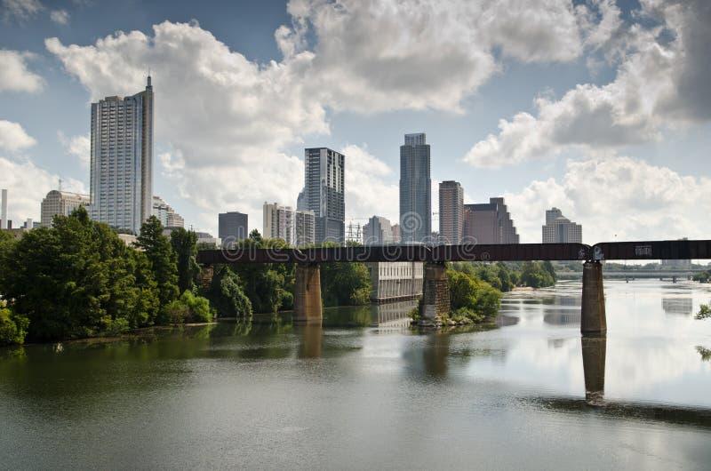 I stadens centrum Austin Texas horisont royaltyfria foton