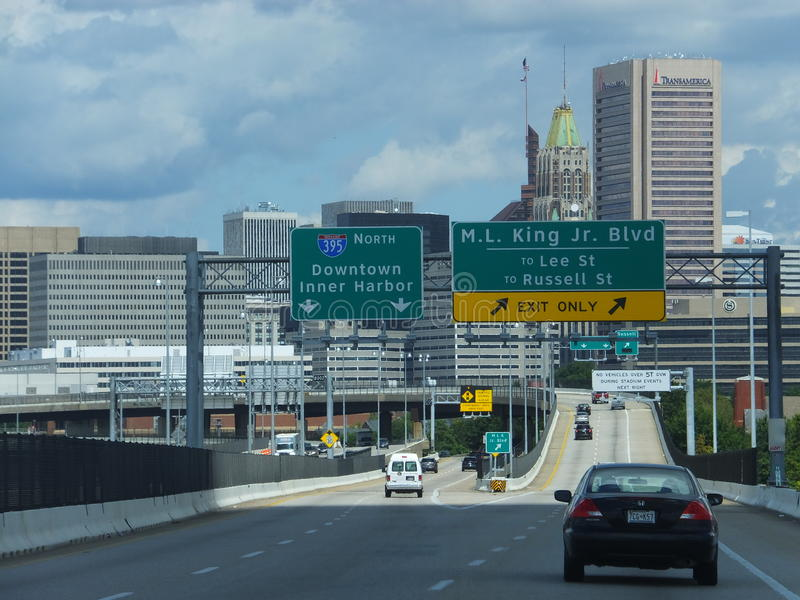 I stadens centrum Baltimore, Maryland fotografering för bildbyråer