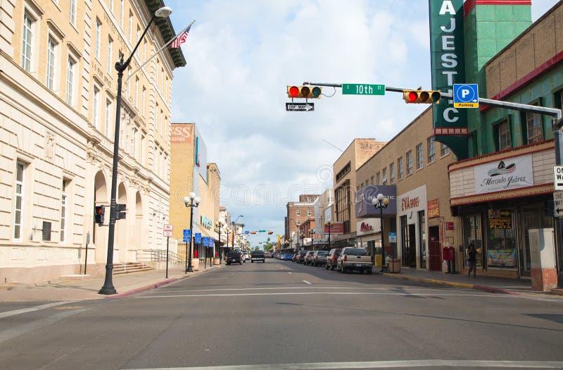 I stadens centrum Brownsville, texas arkivbilder