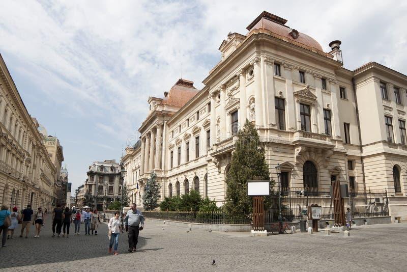 I stadens centrum Bucharest arkivfoto