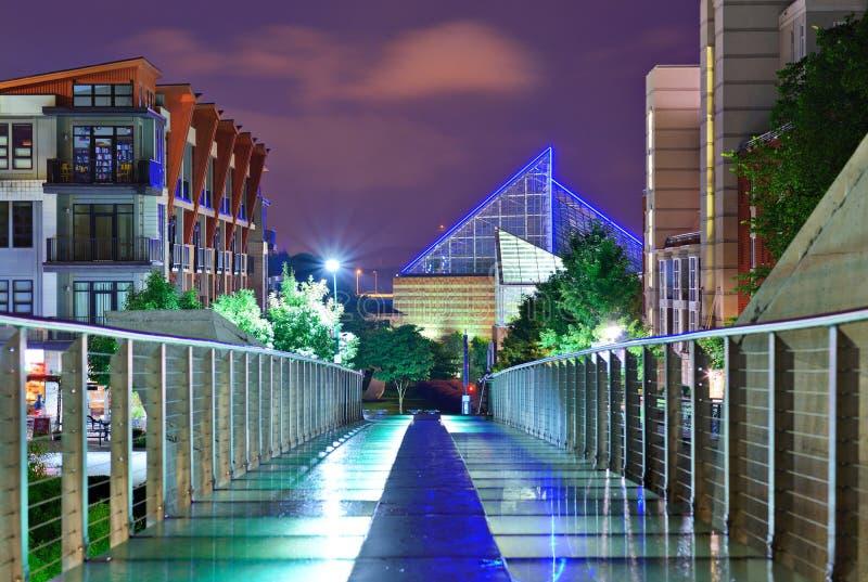 I stadens centrum Chattanooga fotografering för bildbyråer