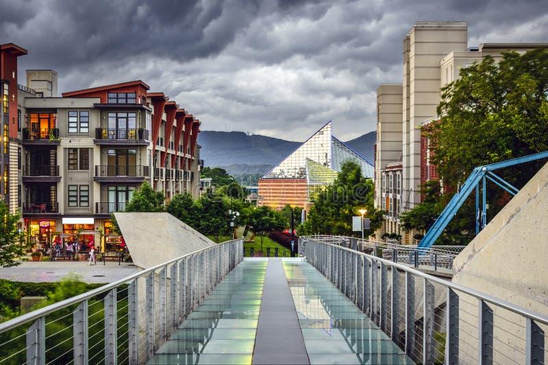 I stadens centrum Chattanooga arkivfoton