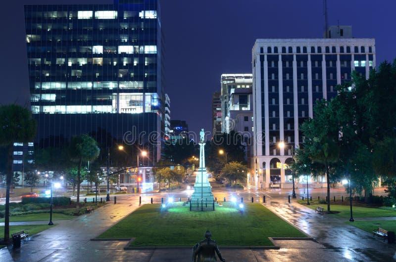 I stadens centrum Columbia, South Carolina fotografering för bildbyråer