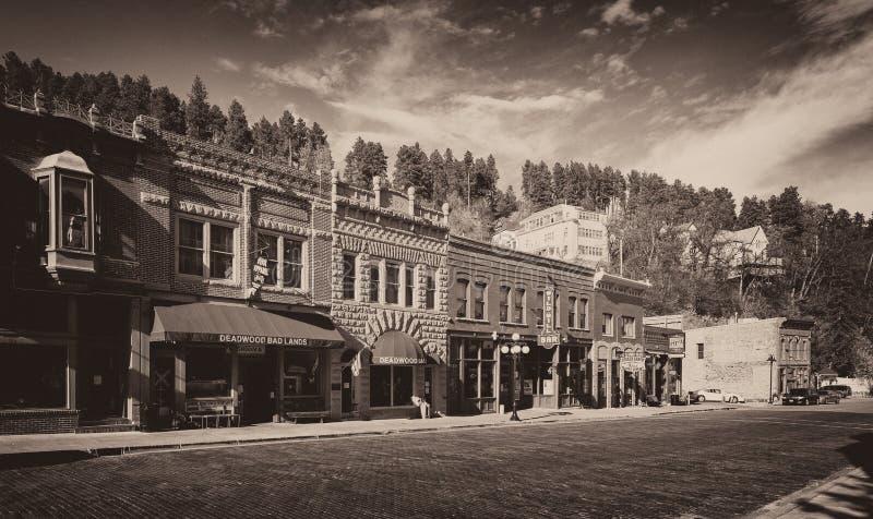 I stadens centrum Deadwood royaltyfri bild