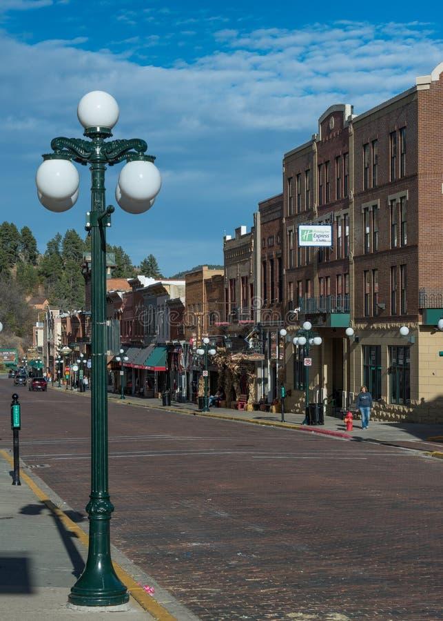 I stadens centrum Deadwood fotografering för bildbyråer