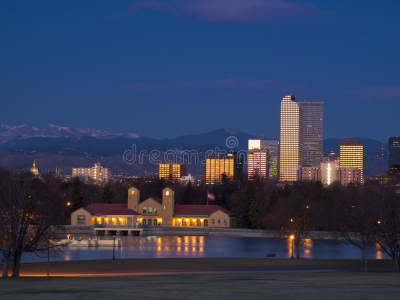 I stadens centrum Denver royaltyfri bild