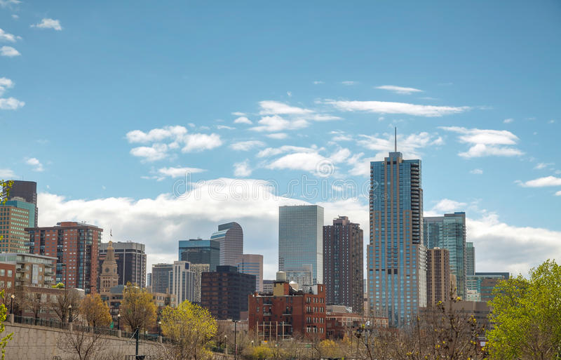 I stadens centrum Denver cityscape arkivbild