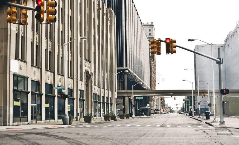 I stadens centrum Detroit royaltyfria foton