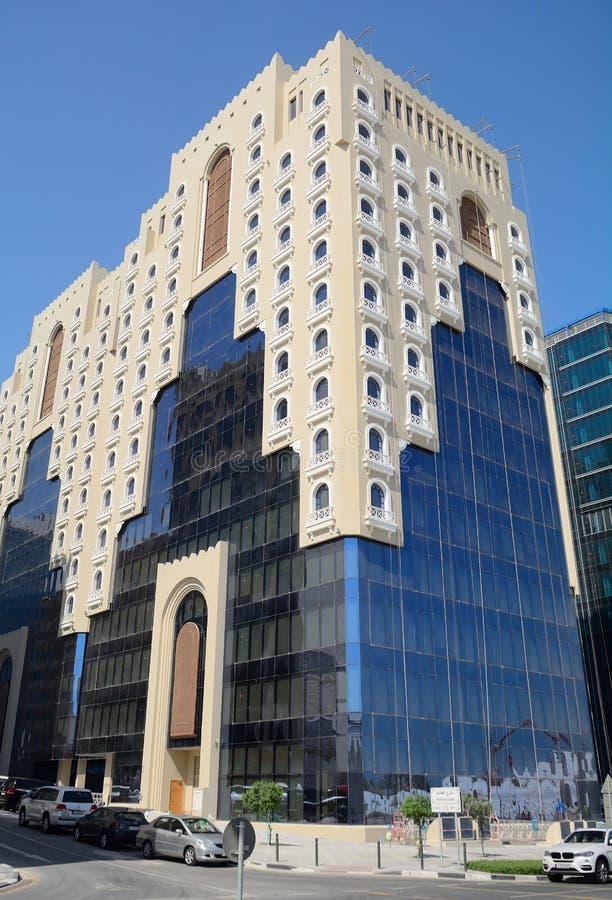I stadens centrum Doha, Qatar arkivfoton