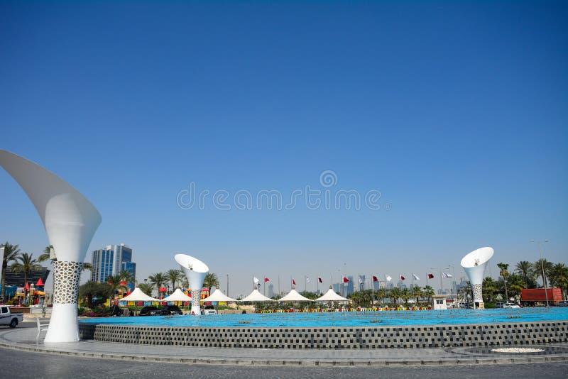 I stadens centrum Doha, Qatar arkivbild