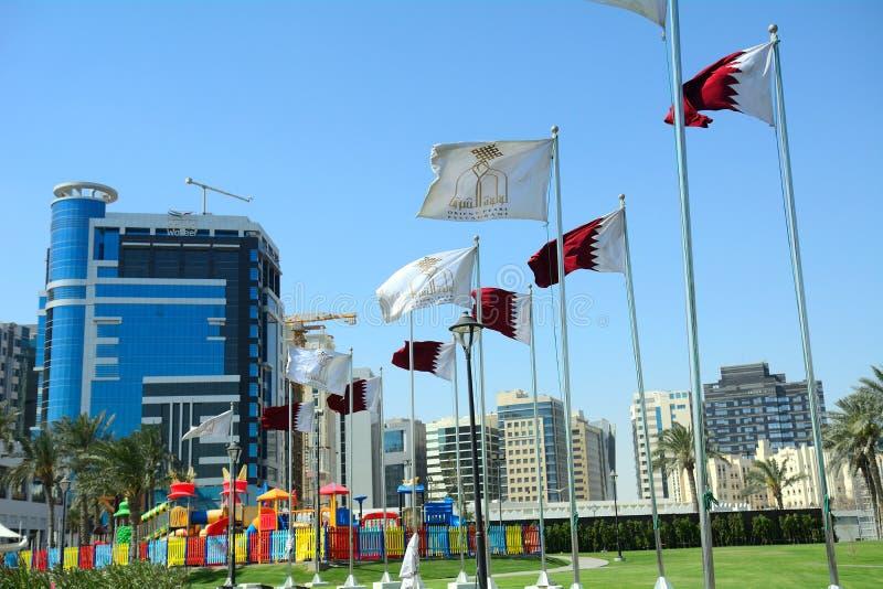I stadens centrum Doha, Qatar royaltyfria foton