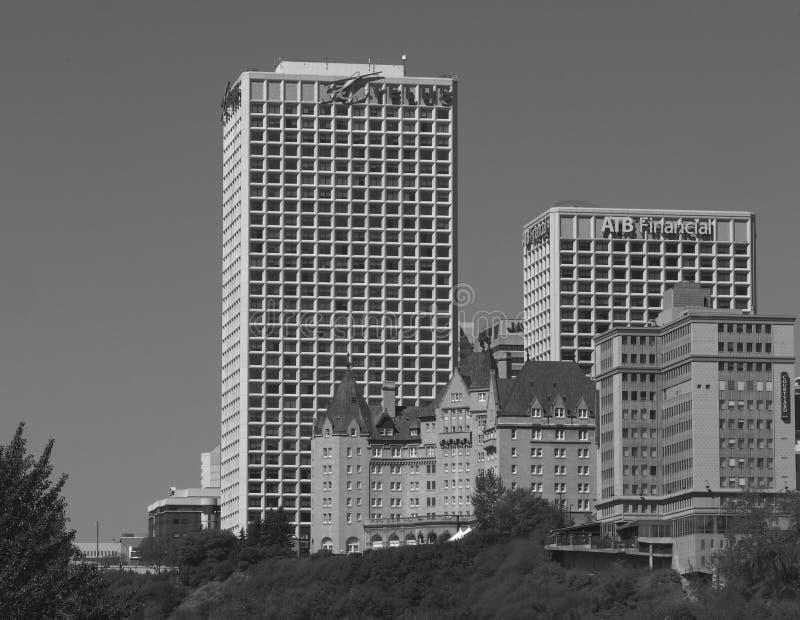 I stadens centrum Edmonton arkivfoto