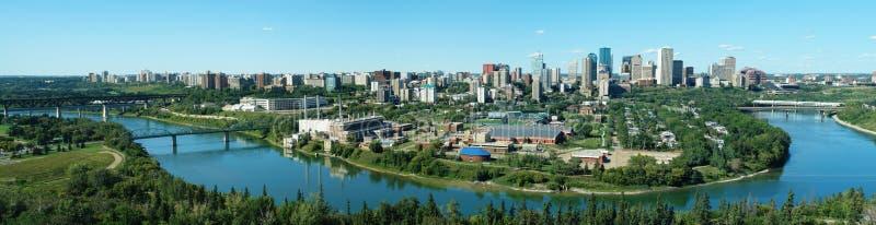 i stadens centrum edmonton panorama arkivbilder