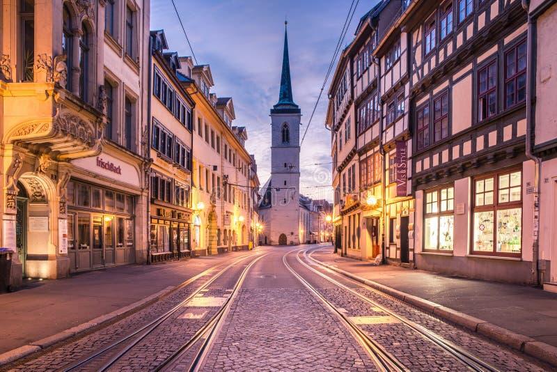 I stadens centrum Erfurt, Tyskland