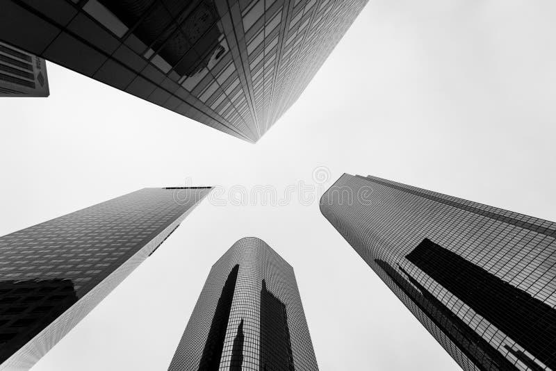 I stadens centrum finansiellt område av den Los Angeles staden, Kalifornien arkivbilder