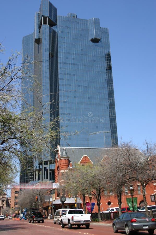 i stadens centrum Fort Worth royaltyfri bild