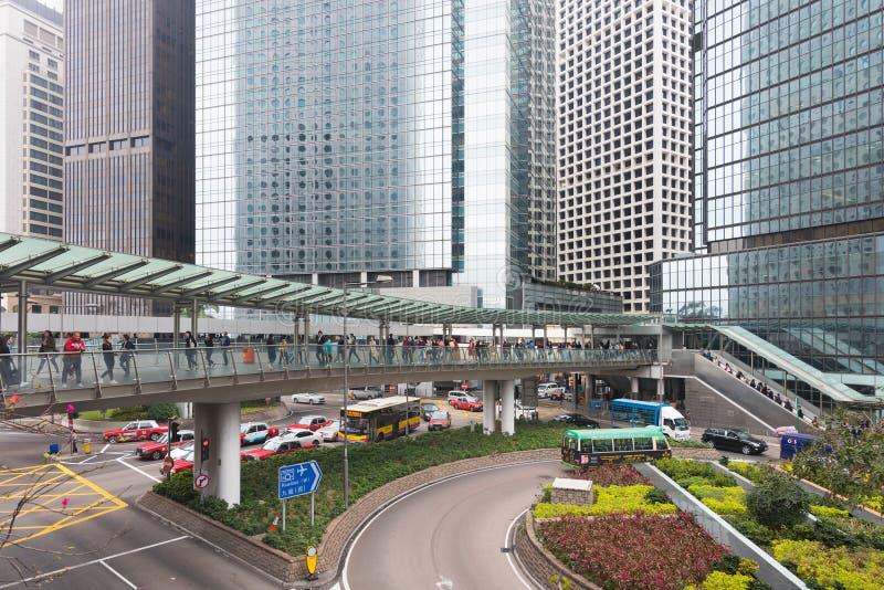 i stadens centrum Hong Kong royaltyfria foton