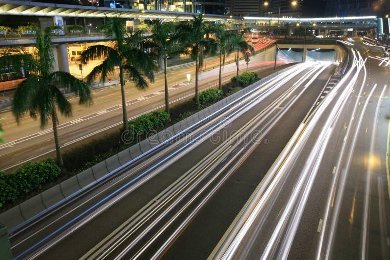 i stadens centrum Hong Kong trafik royaltyfri fotografi