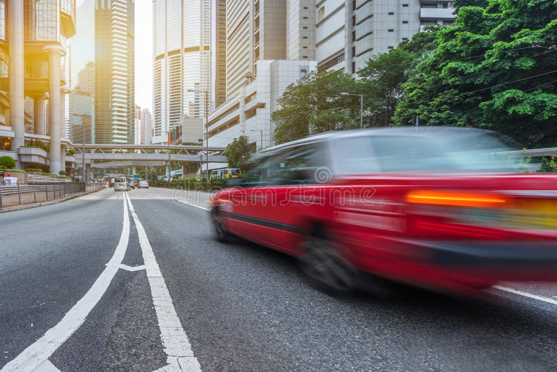 i stadens centrum Hong Kong trafik arkivfoton