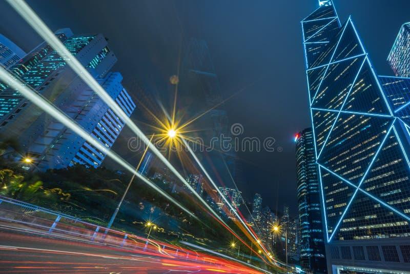 i stadens centrum Hong Kong trafik royaltyfri bild