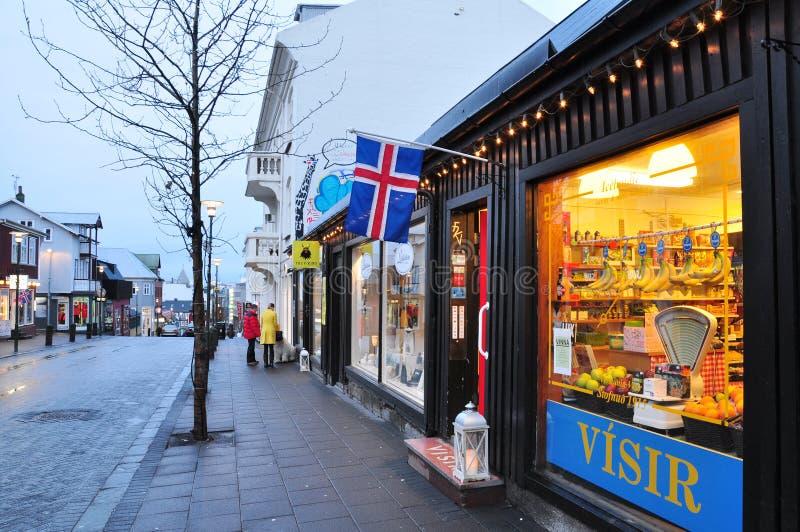 i stadens centrum iceland reykjavik royaltyfri fotografi