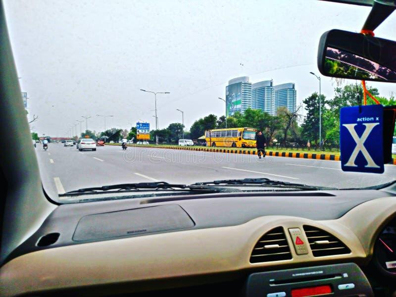 I stadens centrum Islamabad arkivbild