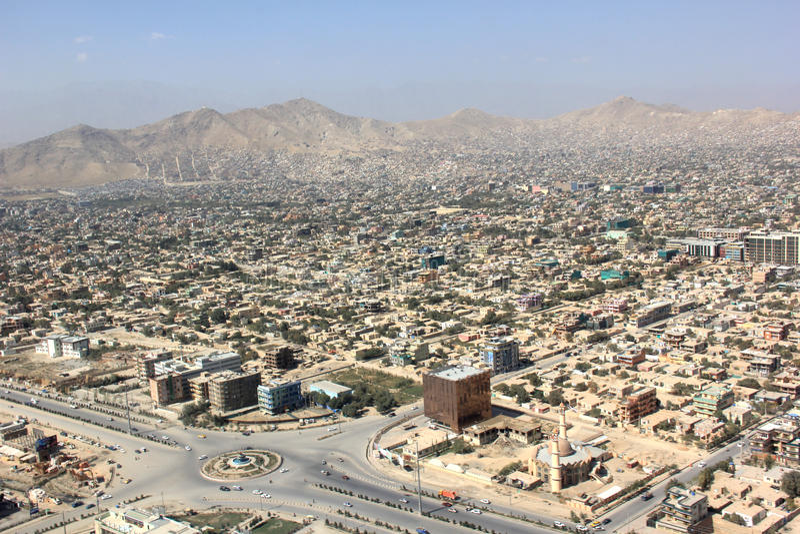I stadens centrum Kabul arkivbild