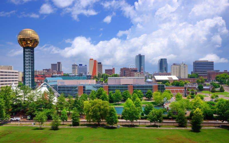 I stadens centrum Knoxville arkivbilder