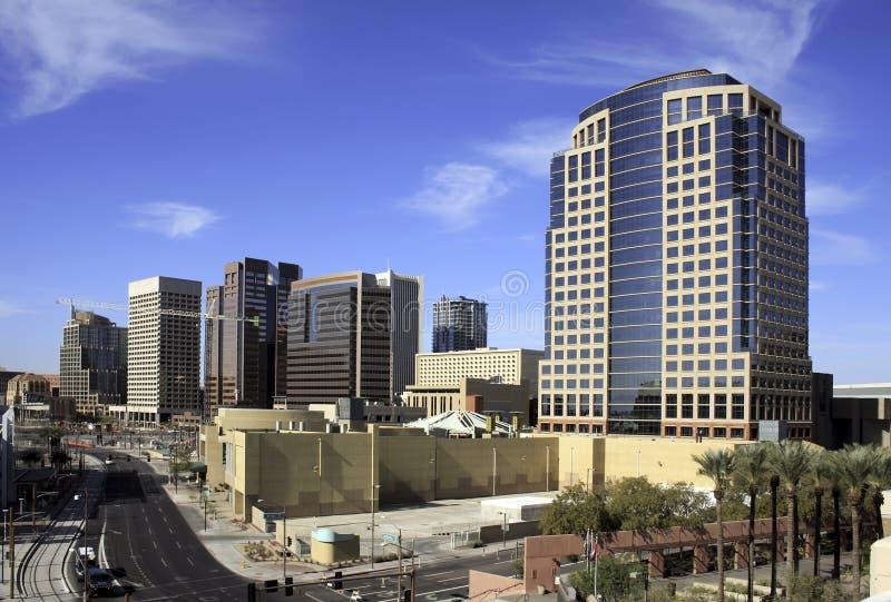 i stadens centrum kontor phoenix för arizona byggnadsstad fotografering för bildbyråer