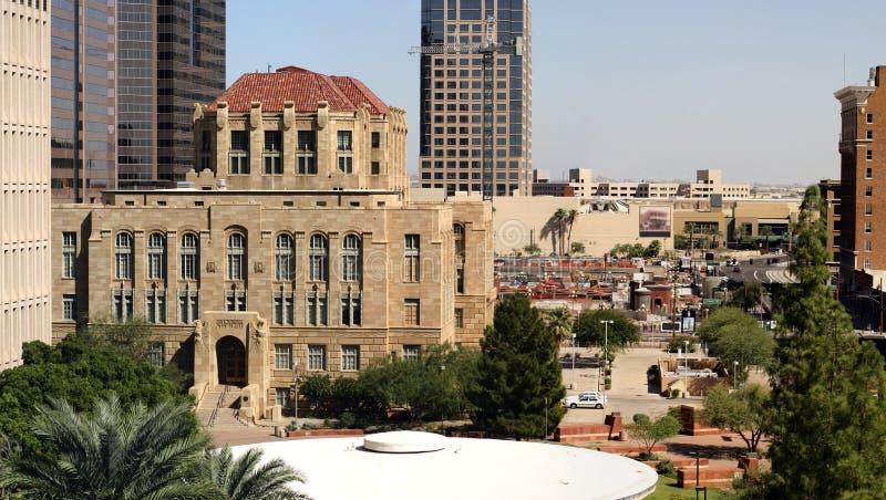 i stadens centrum kontorspanorama phoenix för byggnader fotografering för bildbyråer