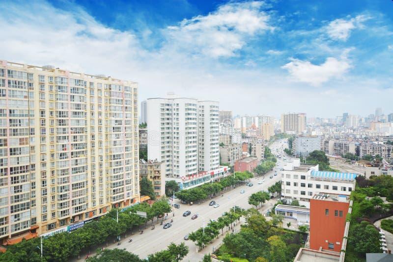 I stadens centrum Kunming, royaltyfria bilder