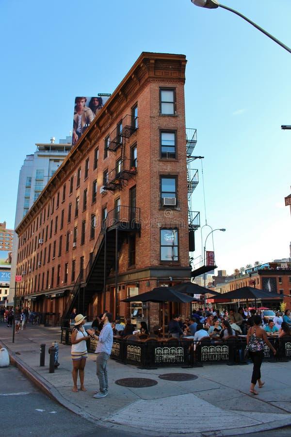 i stadens centrum manhattan New York royaltyfri bild