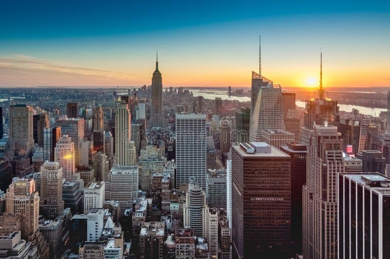 I stadens centrum Manhattan i New York, Förenta staterna royaltyfri bild