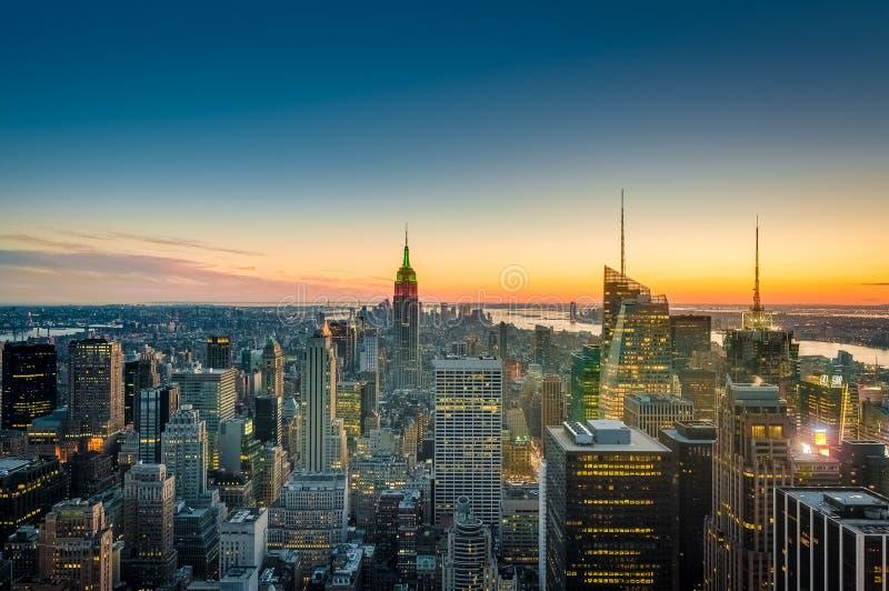 I stadens centrum Manhattan i New York, Förenta staterna royaltyfria foton